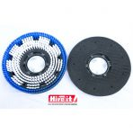 Floor polisher Pad holder and scrubbers