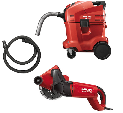DUSTLESS WALL CHASER 185MM WITH VACUUM CLEANER HILTI