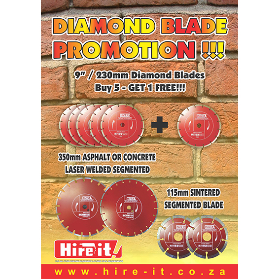 Diamond Blade 5+1 special on 230mm Angle Grinder Blades