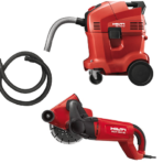 WALL CHASER DUSTLESS 185MM WITH VACUUM CLEANER HILTI